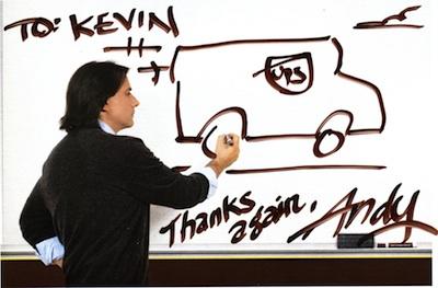 Andy's genius UPS White Board Campaign